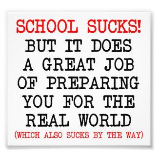 School Sucks Like Life Funny Poster Photo