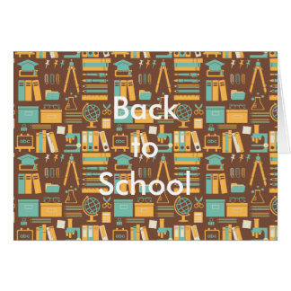 School Supplies All Over Design Greeting Card