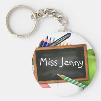 School Supplies Basic Round Button Key Ring