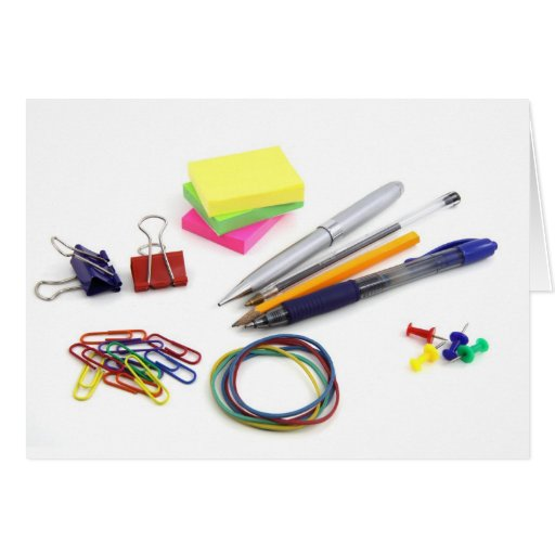 School Supplies Greeting Cards
