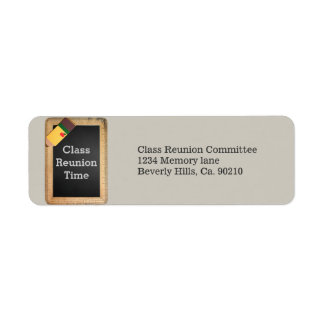School Supplies Chalkboard Class Reunion