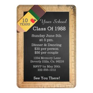School Supplies Chalkboard Class Reunion 13 Cm X 18 Cm Invitation Card