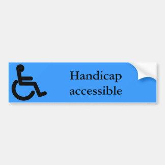 School Supplies Handicap Sticker Bumper Sticker