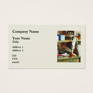 School Supplies in General Store Business Card