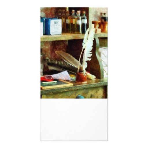 School Supplies in General Store Photo Greeting Card