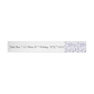 School Supplies Sketch Wraparound Address Label