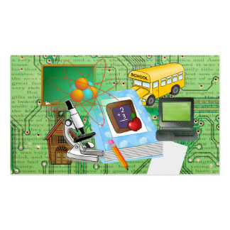 School Supplies & Tools Collage Double-Sided Standard Business Cards (Pack Of 100)