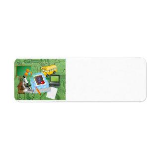 School Supplies & Tools Collage Return Address Label