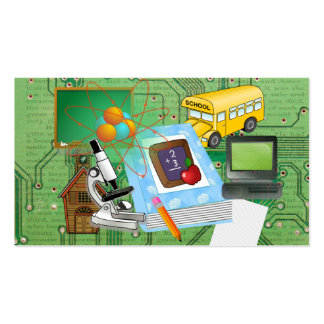 School Supplies & Tools Collage Pack Of Standard Business Cards