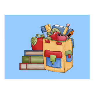 School Supplies Tshirts and Gifts Postcard