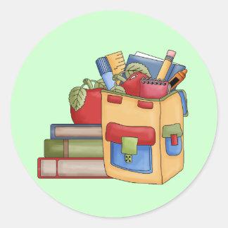 School Supplies Tshirts and Gifts Round Sticker