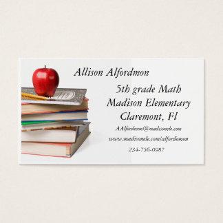 School Teacher Business Card