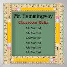 School Teacher Classroom Rules / Goals - SRF Poster