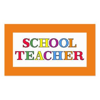 School Teacher Colors Business Card