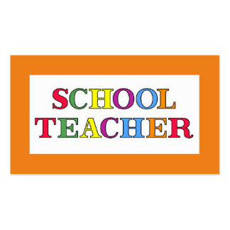 School Teacher Colors Pack Of Standard Business Cards