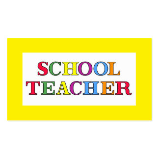 School Teacher Colours Pack Of Standard Business Cards