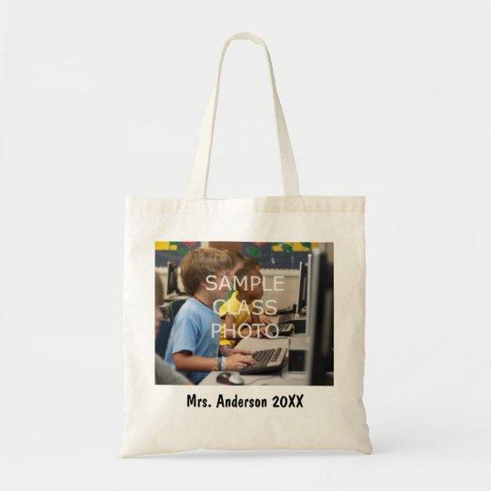 School Teacher Custom Class Photo & Text Tote Bag