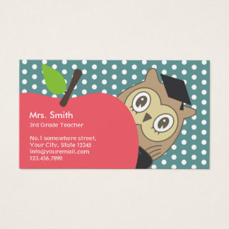 School Teacher Cute Apple & Owl