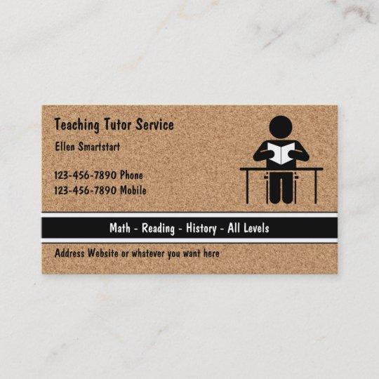 School teacher tutoring business cards zazzle school teacher tutoring business cards reheart Image collections