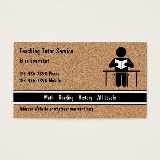 School Teacher Tutoring Business Cards