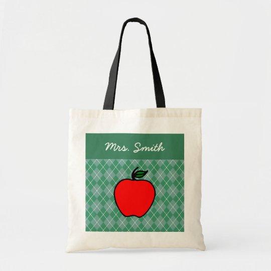 School Teacher's Apple Tote Book Bag Gift