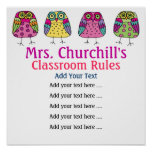 School Teacher's Classroom Rules LG. by SRF