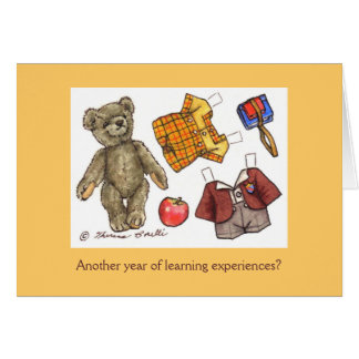 school teddy birthday card