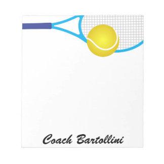 School Tennis Note Pad - SRF