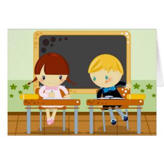 school test greeting card