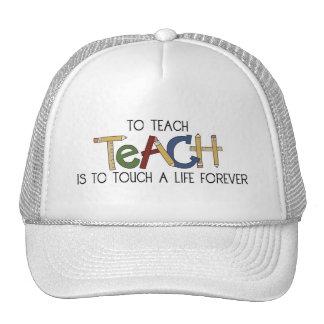 School Theme Teachers Teach to Touch a Life Cap