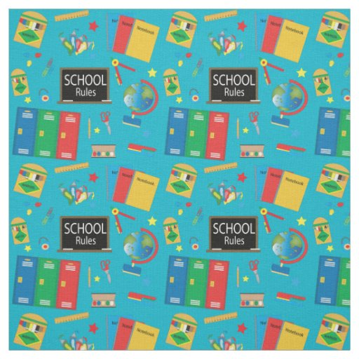 School Time | Changeable Background Colour Fabric