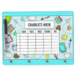 School Timetable custom name message board