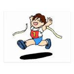 School Track Team Postcard