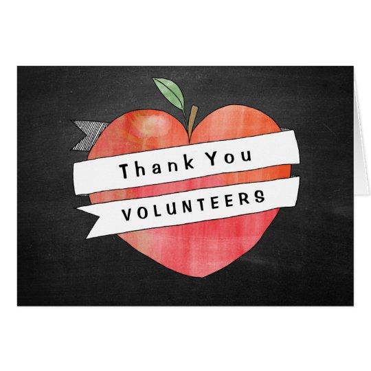 School Volunteer Thank You Cards | Apple Heart