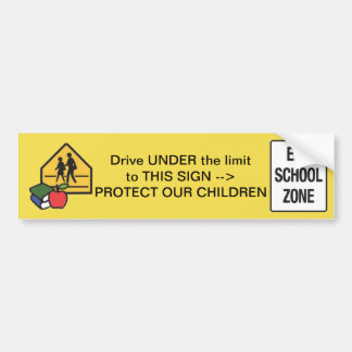School Zone Bumper Sticker