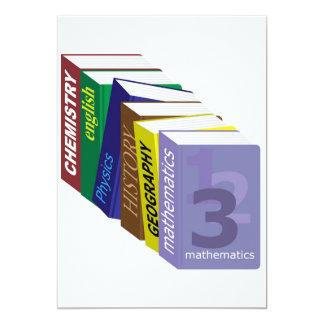 Schoolbooks 13 Cm X 18 Cm Invitation Card