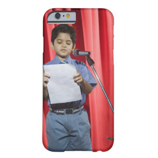 Schoolboy giving speech on a stage barely there iPhone 6 case