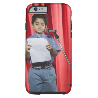 Schoolboy giving speech on a stage tough iPhone 6 case