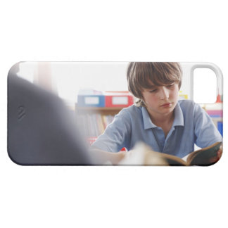schoolboy reading in classroom barely there iPhone 5 case
