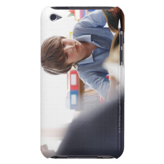 schoolboy reading in classroom iPod touch case