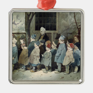 Schoolboys in the Playground Christmas Ornament
