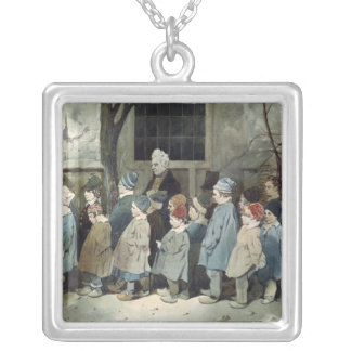 Schoolboys in the Playground Silver Plated Necklace