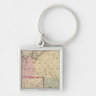 Schoolcraft County Michigan Key Ring