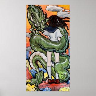 Schoolgirl and Dragon Poster