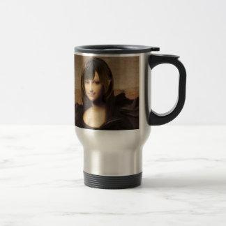 Schoolgirl style Mona Lisa Stainless Steel Travel Mug