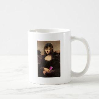 Schoolgirl style Mona Lisa コーヒーマグカップ