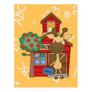 Schoolhouse Giraffe Postcard