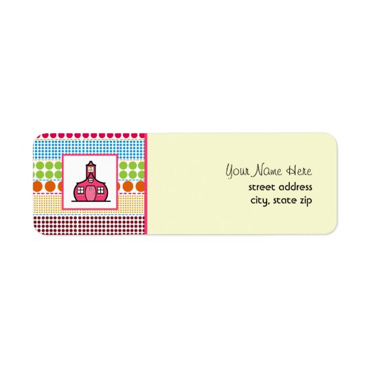 Schoolhouse Multicolored Polka Dots Teacher