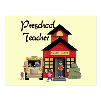 Schoolhouse Preschool Teacher Tshirts and Gifts Postcards