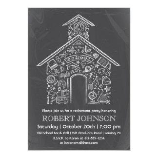 Schoolhouse Teacher Retirement Invitation